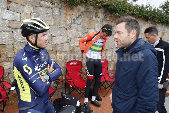 BMC Training Camp Calpe - Spain - 11/12/2017 - Simon Gerrans (AUS - ORICA - Scott) - Cadel Evans (AUS - BMC) - Photo Luis Angel Gomez/BettiniPhoto©2017