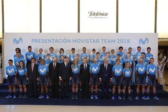 Presentation Movistar Team 2018 - Madrid - Spain - 14/12/2017 - Movistar - Photo Luis Angel Gomez/BettiniPhoto©2017