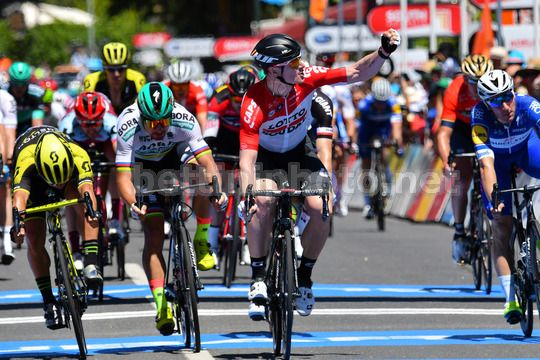Tour Down Under 2018 - Port Adelaide - Lyndoch  145 km - 16/01/2018 - Andre Greipel (GER - Lotto Soudal) - Caleb Ewan (AUS - Mitchelton - Scott) - Peter Sagan (SVK - Bora - Hansgrohe) - Photo Dario Belingheri/BettiniPhoto©2017