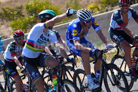 Tour Down Under 2018 - 3rd Stage Glenelg - Victor Harbour 120,5 km - 18/01/2018 - Peter Sagan (SVK - Bora - Hansgrohe) - Fabio Sabatini (ITA - QuickStep - Floors) - Photo Dario Belingheri/BettiniPhoto©2017