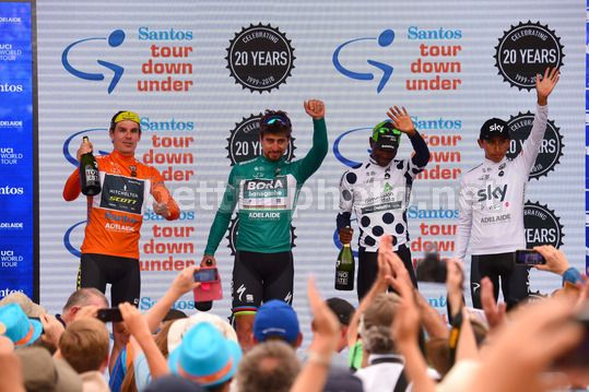Tour Down Under 2018 - 6th stage Adelaide - Adelaide 90 km - 21/01/2018 - Daryl Impey (RSA - Mitchelton - Scott) - Peter Sagan (SVK - Bora - Hansgrohe) - Nickolas Dlamini (RSA - Dimension Data) - Egan Bernal (COL - Team Sky) - Photo Dario Belingheri/Betti