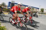 Abu Dhabi Tour 2018 - 4th Edition - 1st stage Al Fahim stage Madinat Zayed - Adnoc Shool 189 km - 21/02/2018 - Alex Frame (AUS - Trek - Segafredo) - Michael Gogl (AUT - Trek - Segafredo) - photo Roberto Bettini/BettiniPhoto©2018