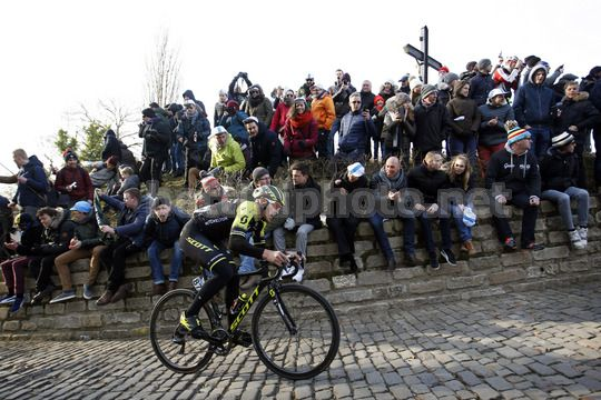 Omloop Het Nieuwsblad 2018 - 73th Edition - Gand - Meerbeke 196.2km - 24/02/2018 - Matteo Trentin (ITA - Mitchelton - Scott) - Photo Dion Kerckhoffs/CV/BettiniPhoto©2018
