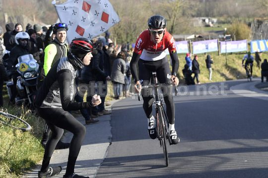 Omloop Het Nieuwsblad 2018 - 73th Edition - Gand - Meerbeke 196.2km - 24/02/2018 - Tiesj Benoot (BEL - Lotto Soudal) - Photo Peter De Voecht/PN/BettiniPhoto©2018