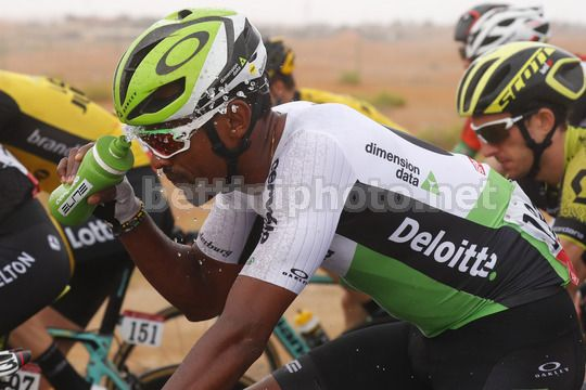 Abu Dhabi Tour 2018 - 4th Edition - 5th stage Airports stage Qasr Al Muwaiji - Jebel Hafeet 199 km - 25/02/2018 - Mekseb Debesay (ERI - Dimension Data) - Photo Roberto Bettini/BettiniPhoto©2018