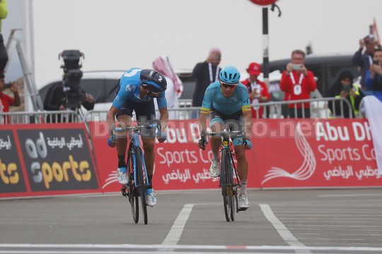 Abu Dhabi Tour 2018 - 4th Edition - 5th stage Airports stage Qasr Al Muwaiji - Jebel Hafeet 199 km - 25/02/2018 - Alejandro Valverde (ESP - Movistar) - Miguel Angel Lopez (COL - Astana Pro Team) - Photo Roberto Bettini/BettiniPhoto©2018