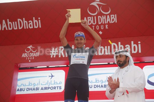Abu Dhabi Tour 2018 - 4th Edition - 5th stage Airports stage Qasr Al Muwaiji - Jebel Hafeet 199 km - 25/02/2018 - Nikolay Trusov (RUS - Gazprom - RusVelo) - Photo Roberto Bettini/BettiniPhoto©2018
