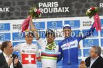 Parigi Roubaix 2018 - 116th Edition - Compiegne - Roubaix 257 km - 08/04/2018 - Peter Sagan (SVK - Bora - Hansgrohe) - Silvan Dillier (SUI - AG2R - La Mondiale) - Niki Terpstra (NED - QuickStep - Floors) - photo Luca Bettini/BettiniPhoto©2018