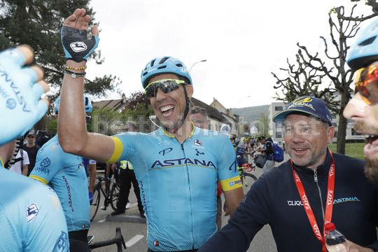 Tour de Romandie 2018 - 72th Edition - 1st stage Friburg - Delemont 166,6 km - 25/04/2018 - Omar Fraile (ESP - Astana Pro Team) - Photo Luis Angel Gomez/BettiniPhoto©2018