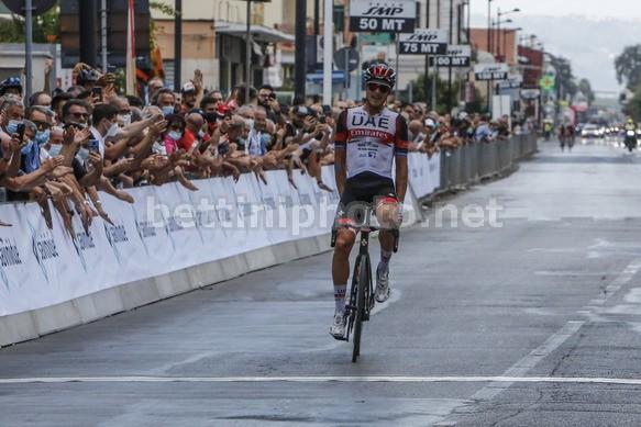La vittoria di Matteo Trentin al Matteotti (foto Bettini)